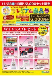 11/28(土)1日限り!プレミアム商品券販売
